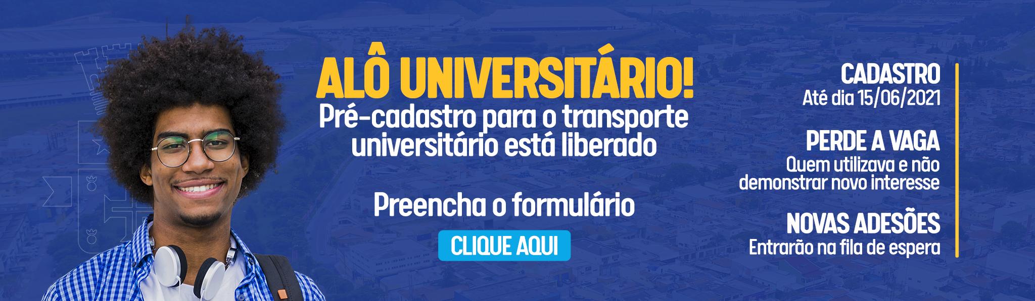TRANSPORTE UNIVERSITÁRIO – RENOVAÇÃO DE INTERESSE